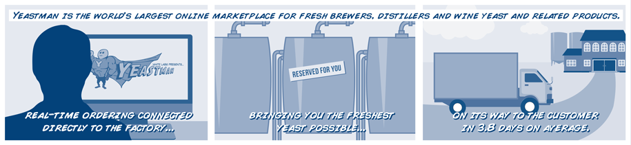 Yeastman is the world's largest online marketplace for fresh brewers, distillers, and wine yeast and related products.